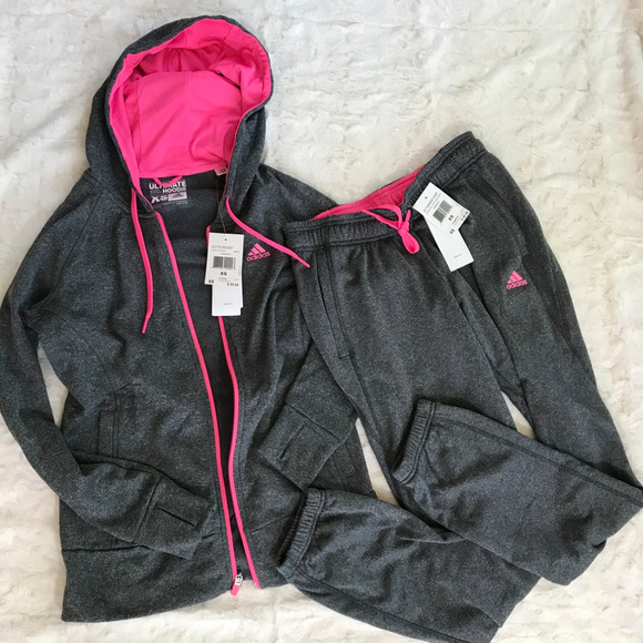 9b4c8d8c30a adidas Tops | Womens Tracksuit Jacket And Joggers Pink | Poshmark